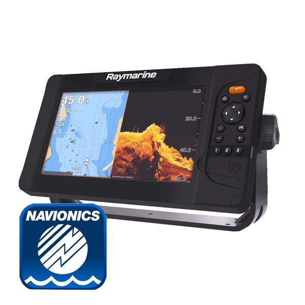 Raymarine Element 9S Plotter / Chirp Sounder With Navionics Silver Chart (No Transducer)
