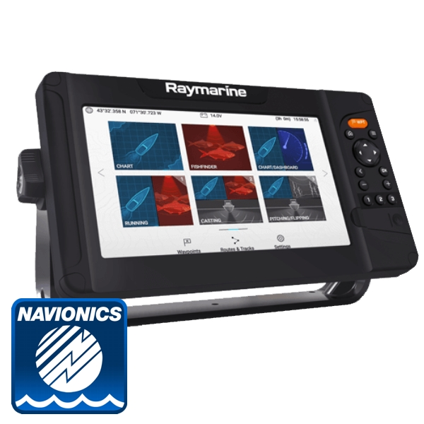 Raymarine Element 9 HV With Navionics PLUS Download Chart (No Transducer)