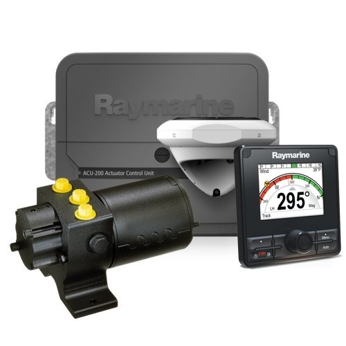RAYMARINE Evolution Autopilot c/w p70Rs Control Head. ACU-200 & Type 1 Hydraulic Pump
