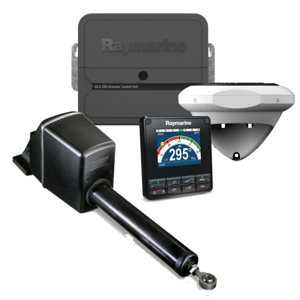Raymarine Evolution Autopilot c/w p70s Control Head. ACU-200 & Type 1 Mechanical Linear Drive