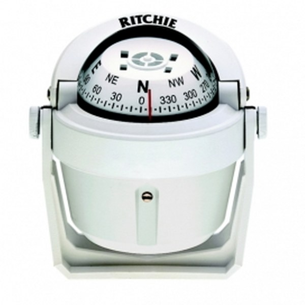 Ritchie Explorer B-51 2.75 Inch Dial Bracket Mount - White