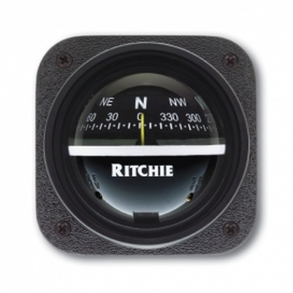 Ritchie Explorer V-537, 2.75 Inch Dial Bulkhead Mount - Black Card