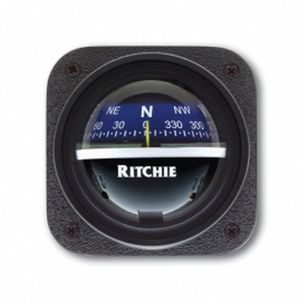 Ritchie Explorer V-537 2.75 Inch Dial Bulkhead Mount - Blue Card