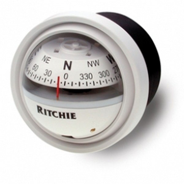 Ritchie Explorer V-57.2 2.75 Inch Dial Dash Mount - White