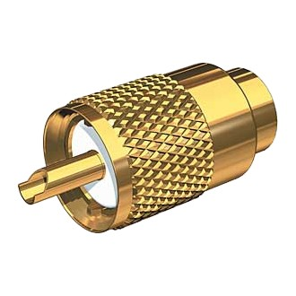 Gold Plated Pl259 Connector - Rg8/au & Rg213 Cable