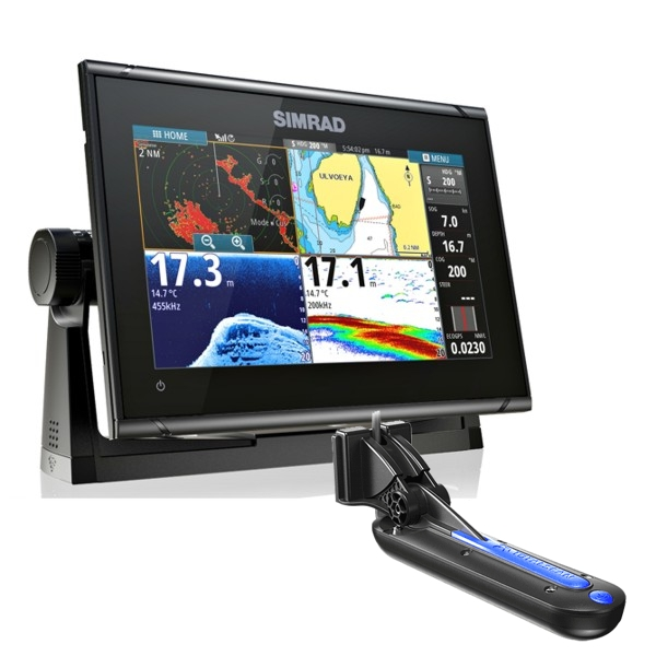 Simrad GO9 XSE TotalScan 9Inch Multi-touch Chart Plotter With Echosounder With TotalScan TR