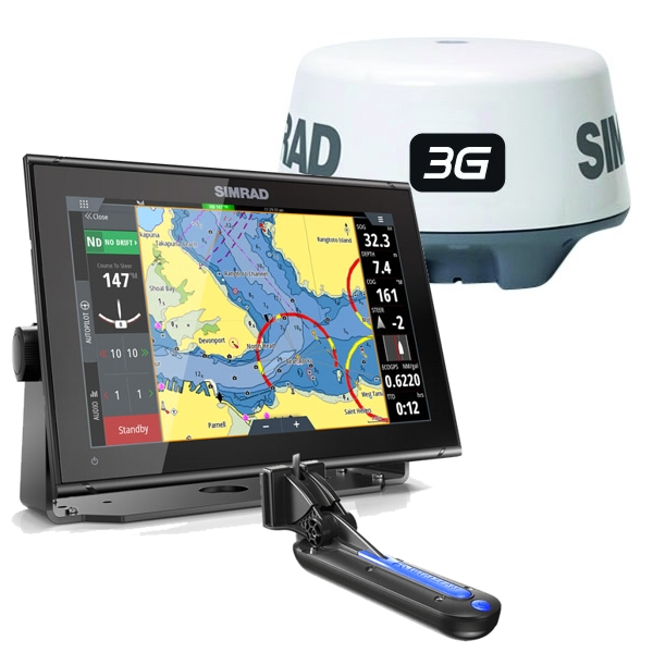 Simrad GO12 XSE With TotalScan Transducer and 3G Radar Scanner