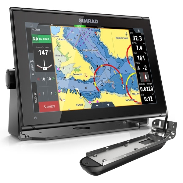 Simrad GO12 XSE 12 Inch Multi-touch Chart Plotter With Transom Active Imagaing 3 in 1 Transducer