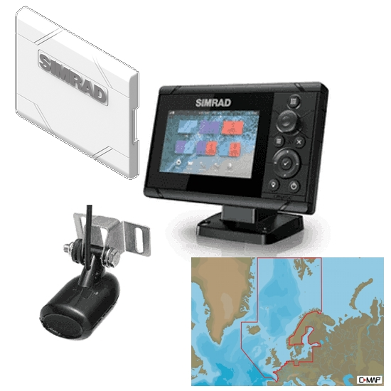 Simrad Cruise 5 Plotter / Sounder Northern Europe Bundle Pack
