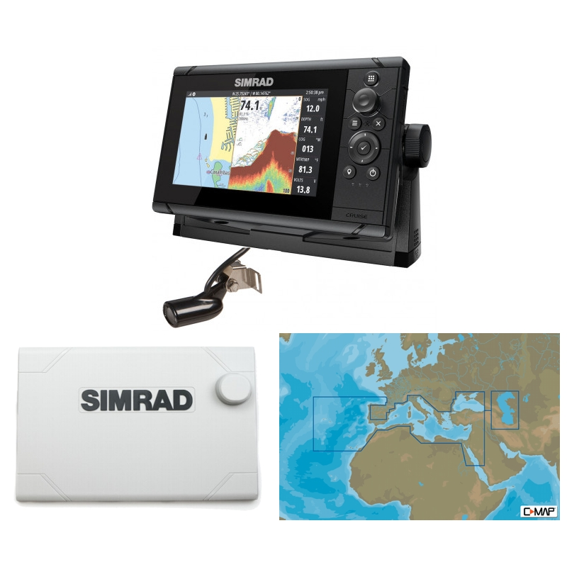 Simrad Cruise 7 Plotter / Sounder Southern Europe Bundle Pack