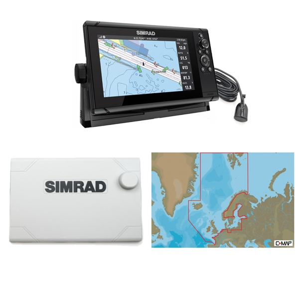 Simrad Cruise 9 Plotter / Sounder Northern Europe Bundle Pack