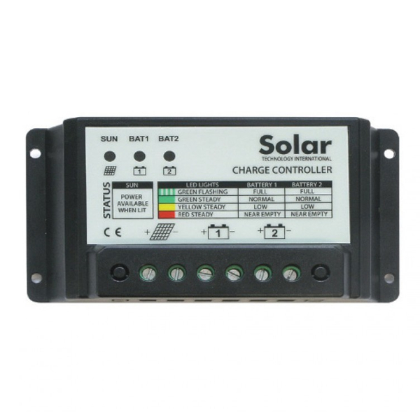 Solar Panel 10Ah Twin Battery Charge Controller