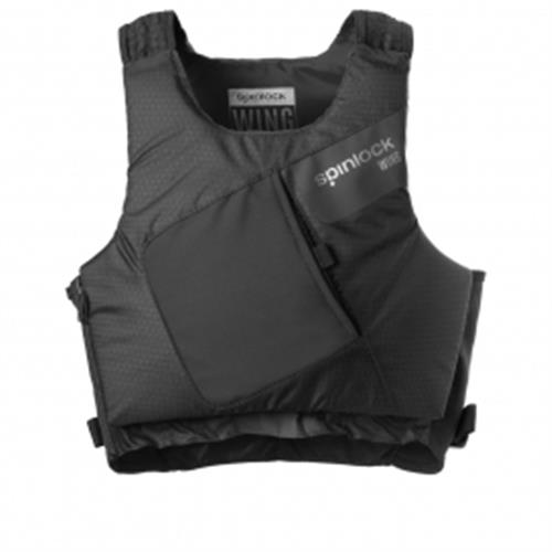 Spinlock Size 1 Wing Pfd Side Zip Black Graphite