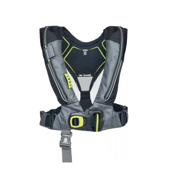 Spinlock Deckvest 6D 275N With Harness Release System - Charcoal & Black