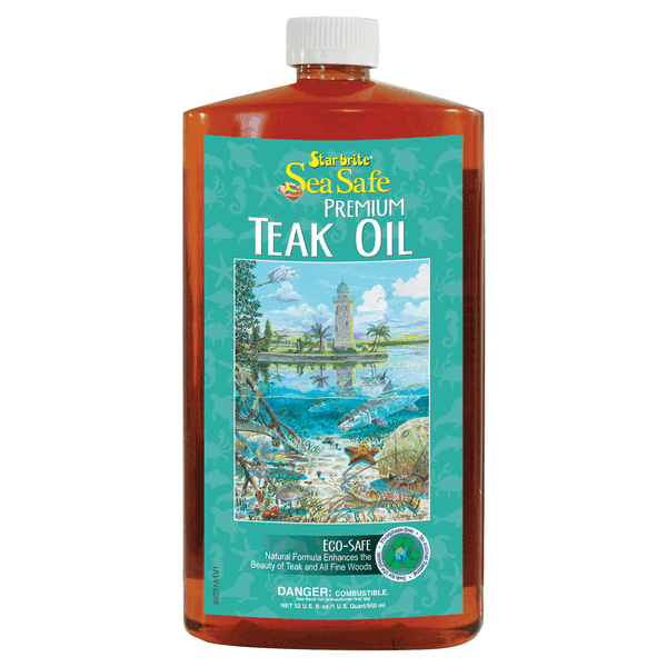 Starbrite Sea-Safe Teak Oil 1Ltr Low VOC ECO Friendly