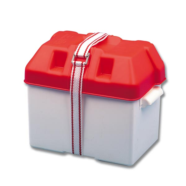 Trem Battery Box Small Red 290x200x210(H)mm