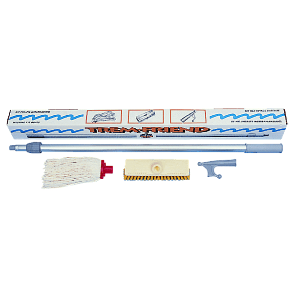 Trem Wash Kit Consists of Boat Hook 2 Brushes and Telescopic Pole