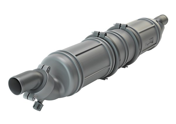 Vetus Waterlock/ muffler 3 chambers. connection Ø90mm