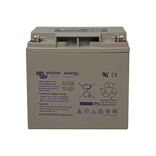 Victron Energy 12V/22Ah AGM Deep Cycle Battery