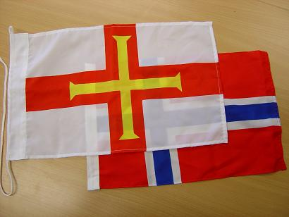 Waveline Guernsey Courtesy Flag 45x30cm Printed