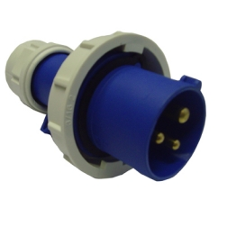 Waveline Industrial Plug 16A 220-250VAC 2P+E IP67 Blue