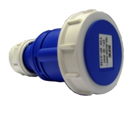 Waveline Industrial Connector (Female) 16A 220-250VAC 2P+E IP67 Blue