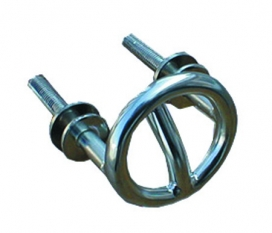 Waveline Ski Tow Ring - S/Steel 2 1/2 Dia