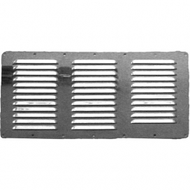 Waveline SS louvered vent 360x185mm AISI 316