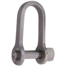 Waveline Flat Key Pin Shackle with Bar 7mm
