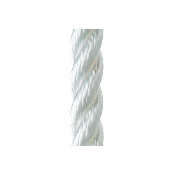 Waveline Anchor Warp- 3 strand Polyester white 12mm 30m