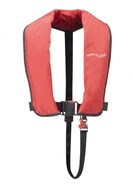Waveline 165N ISO Red Auto LifeJacket With Crutch Strap