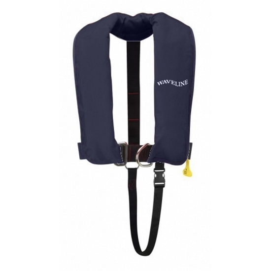 Waveline 165N ISO Navy Auto LifeJacket With Crutch Strap