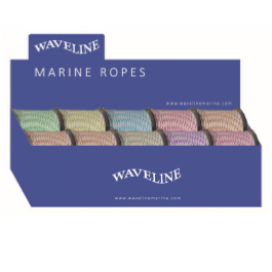 Waveline Poly mini reel 3mm assorted colours X 10